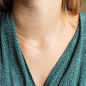 Layering Chains in 14kt Gold Fill 1mm