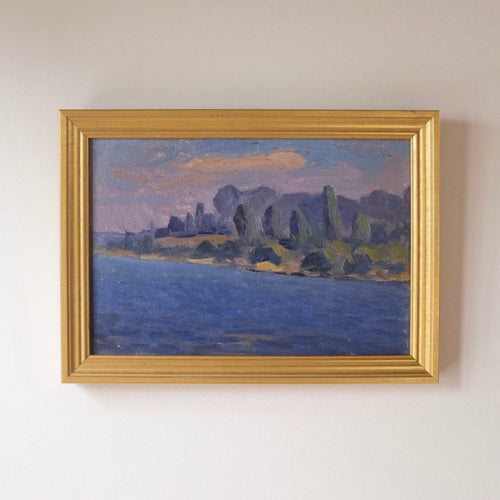 Coastline Dreams Vintage Oil Painting