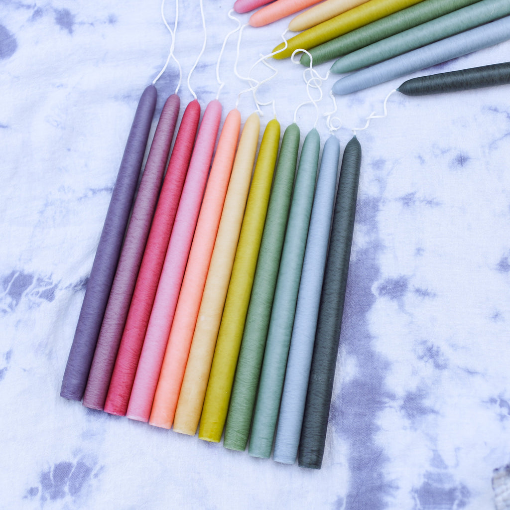 Rainbow Assorted Color Taper Candles at Golden Rule in Excelsior