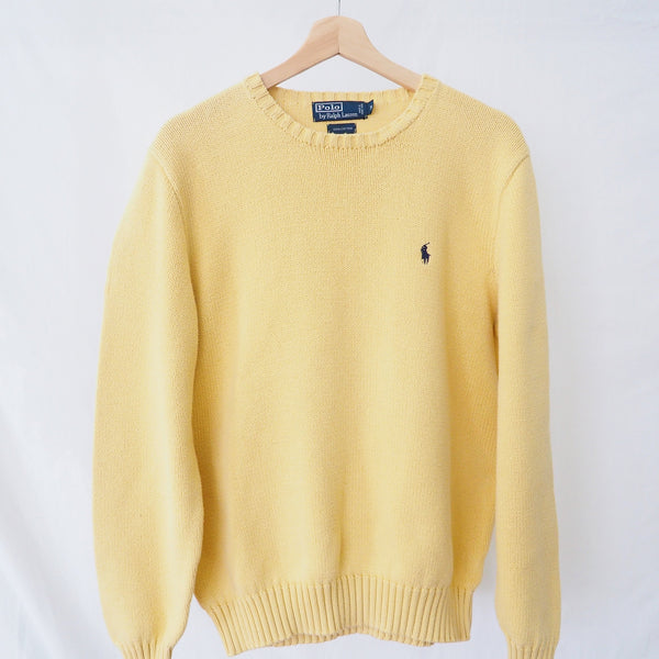 Vintage Yellow Ralph Lauren Crewneck Sweater | 1990s Polo by Ralph Lauren Knit Sweater | J'adore Beddor | Golden Rule Gallery | Excelsior, MN
