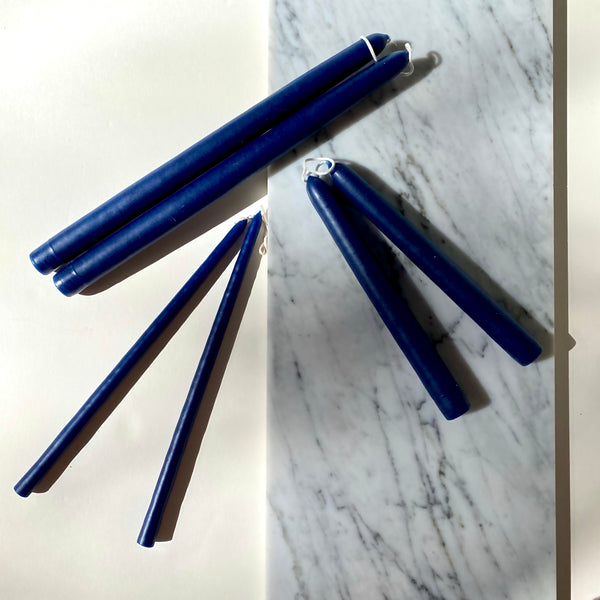 Cobalt Blue Taper Candles | Dark Blue Taper Candle | Mole Hollow Candles | Golden Rule Gallery | Excelsior, MN