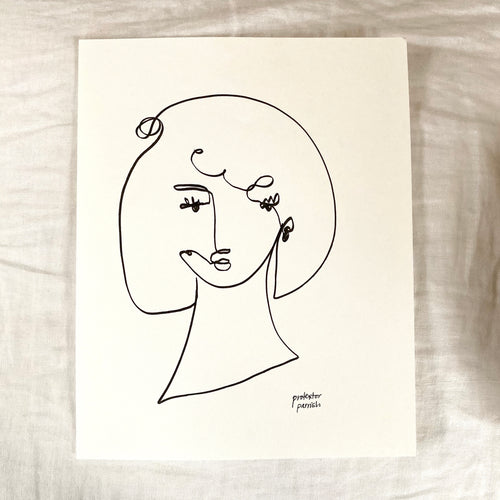 Original Single Line Contour Drawing - 804
