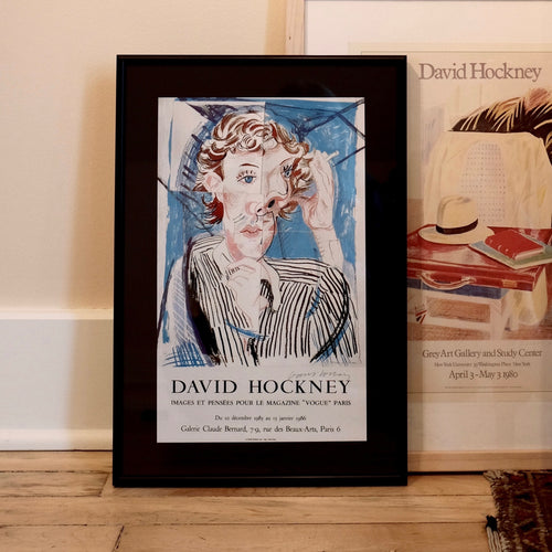 David Hockney Vintage 1985 French Art Exhibition Poster