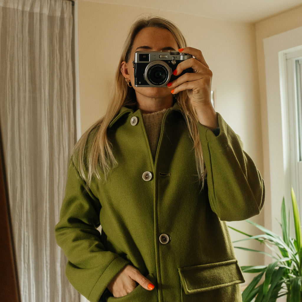 Green Pea Coat By Paloma Wool