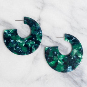 Acrylic Cade Hoop Earrings