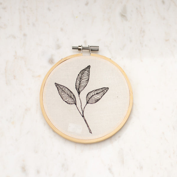 Hand Embroidered Leaf Art | Rachel Bartz | Local Artist | Golden Rule Gallery | Excelsior, MN