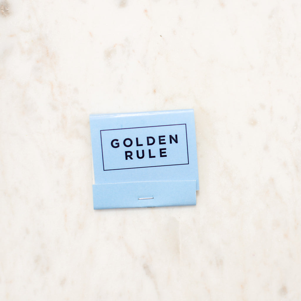 Golden Rule Branded Matchbook | Cornflower Blue Matches | Rainbow Match | Golden Rule Gallery | Excelsior, MN
