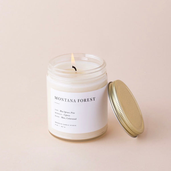 Montana Forest Minimalist Candle | Brooklyn Candle Studio | Montana Inspired | Natural Scents | Golden Rule Gallery | Excelsior, MN