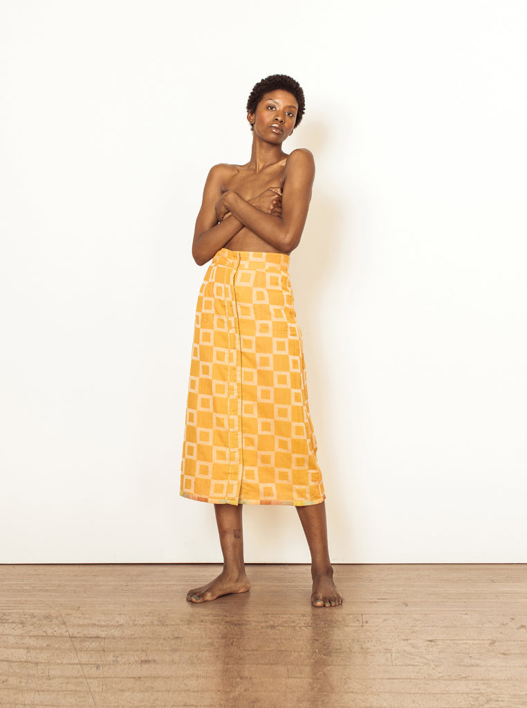 Reversible Casual Skirt | Ace & Jig Clothing | Midi Yellow Skirt | Golden Rule Gallery | Excelsior, MN