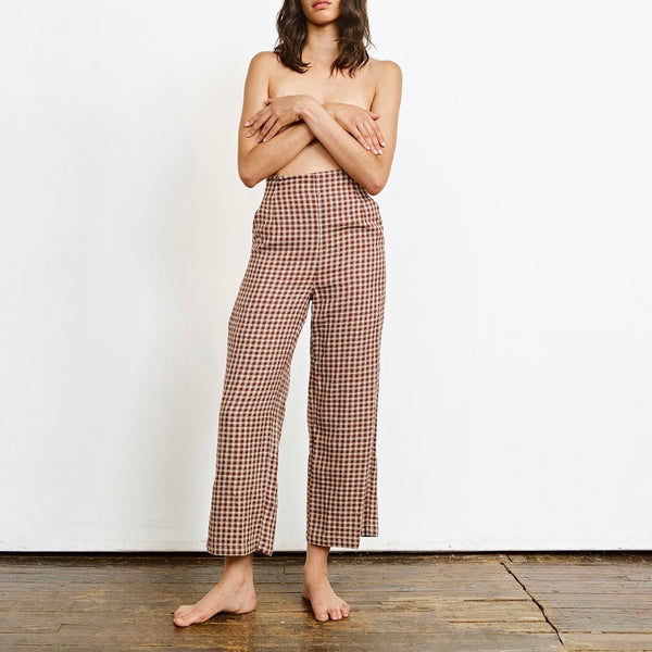 Ace & Jig Polly Pant in Brunswick | Ace and Jig | Pleaded Cropped Pants | Plaid Pant | Cropped Pants | Fashion Pant | Golden Rule Gallery | Excelsior MN