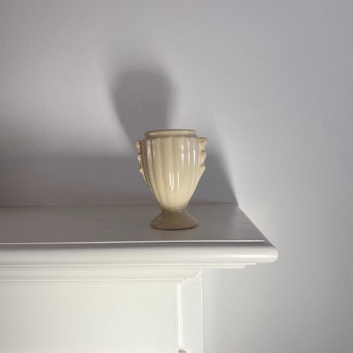 Vintage Cream Urn Shaped Vase