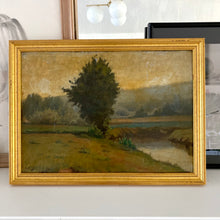 Load image into Gallery viewer, Antique French Original Landscape Oil Painting
