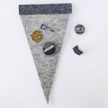 Load image into Gallery viewer, Felt Enamel Pin Display Pennant