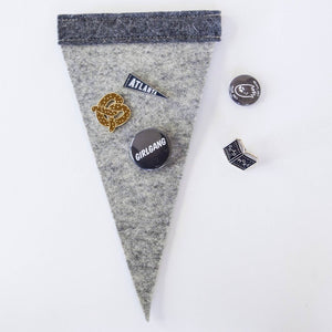 Felt Enamel Pin Display Pennant