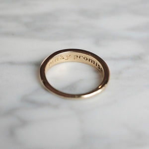 Gold Plated Pinky Promise Ring