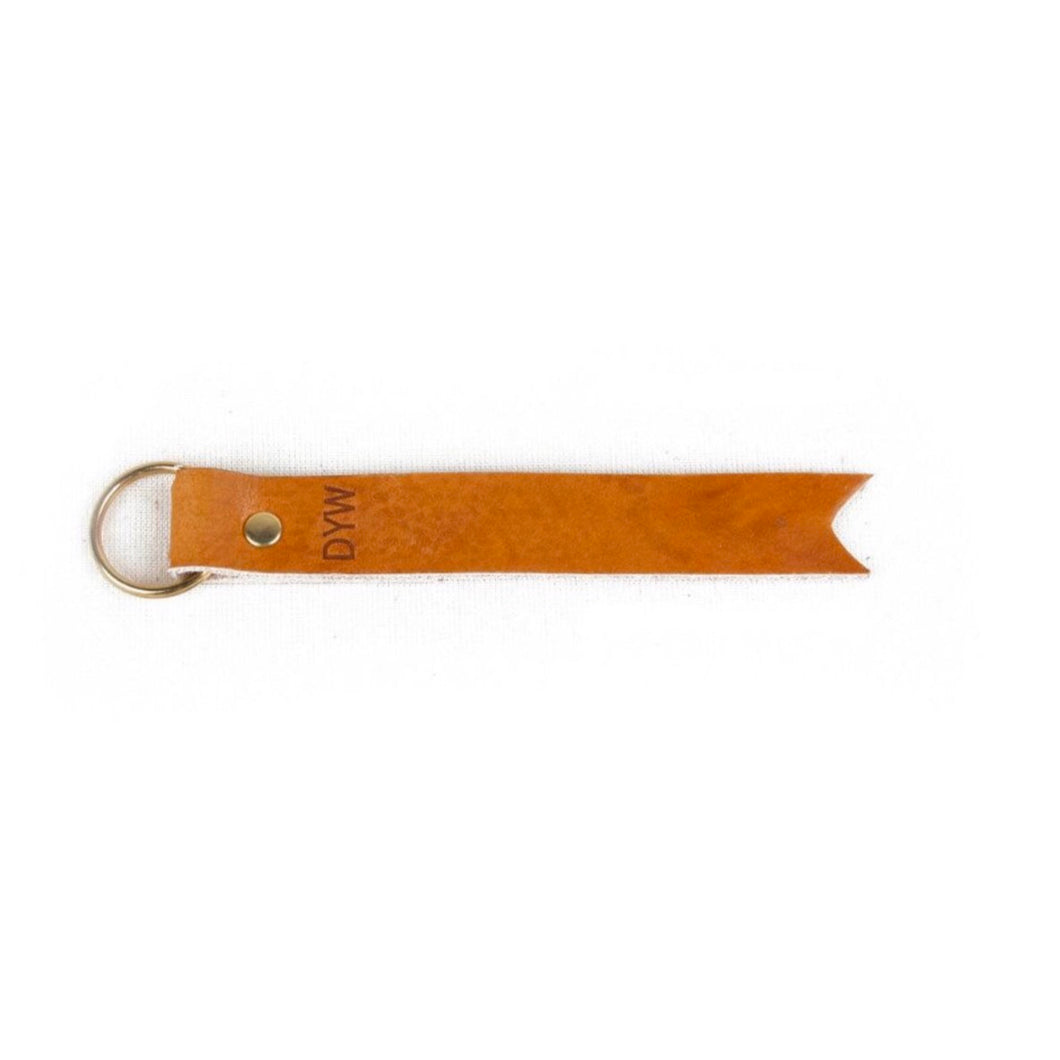 Leather Key Fob with Split Key Ring