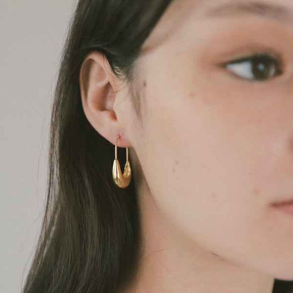 Gold Wolf Circus Earrings