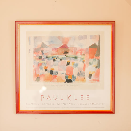Klee Vintage 1987 MOMA Art Exhibition Poster