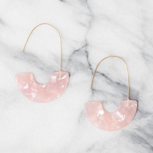 Acrylic Adirah Hoop Earrings