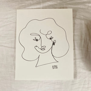 Original Single Line Contour Drawing - 802