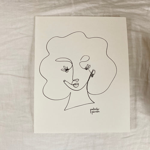 Original Single Line Contour Drawing - 801