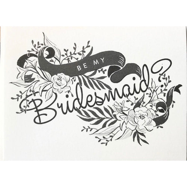 Be My Bridesmaid Card | Bridesmaid Card | Wedding Party Card | Amy Heitman | Golden Rule Gallery | Excelsior, MN