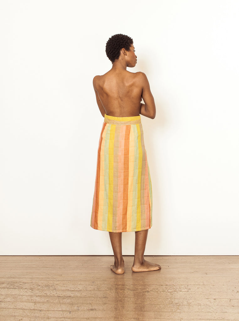 Sustainable Ethical Clothing Brand | Ace & Jig Bo Skirt | Sorbet and Citrus Skirt | Reversible Skirt | Golden Rule Gallery | Excelsior, MN