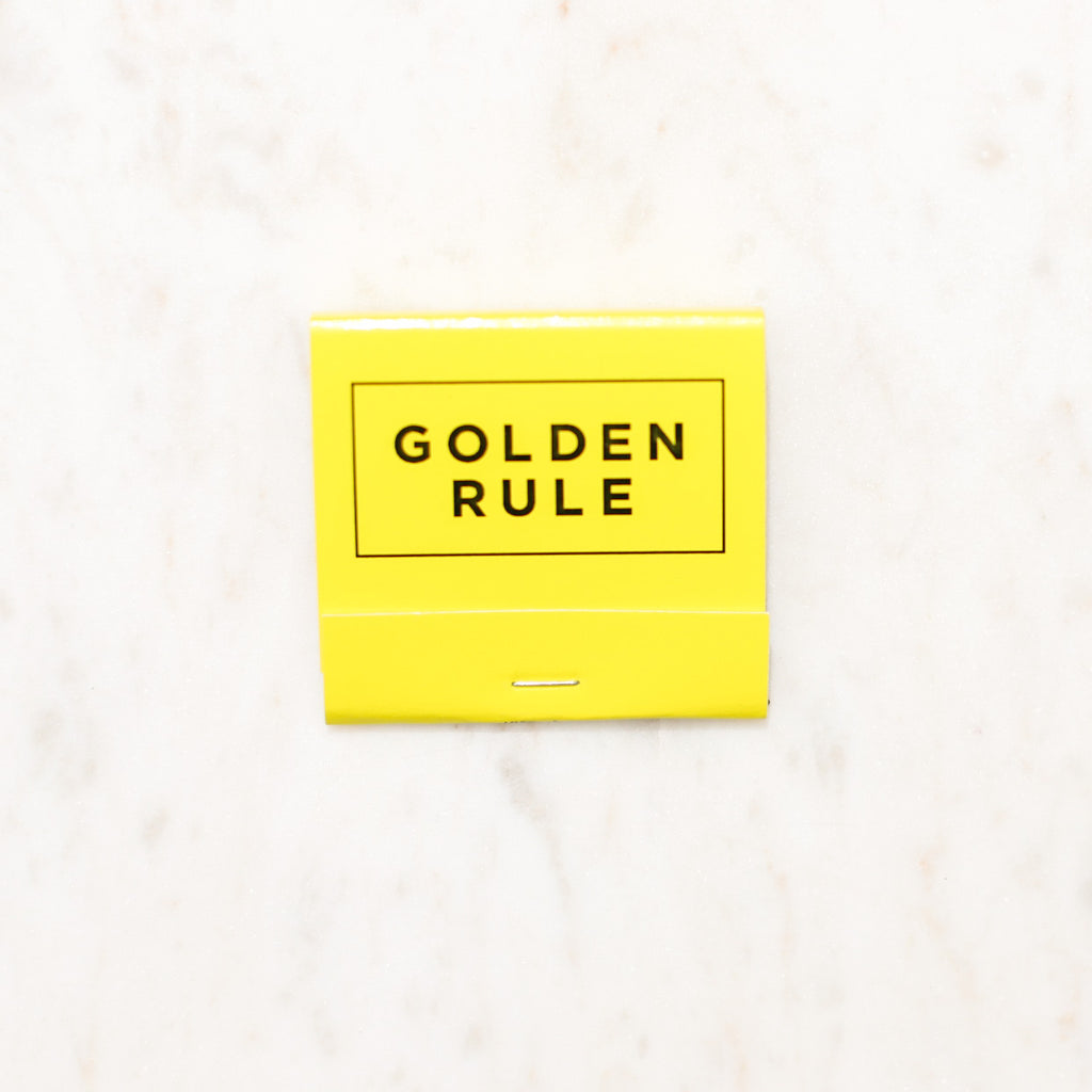Golden Rule Branded Matchbook | Yellow Matches | Golden Rule Gallery | Excelsior, MN