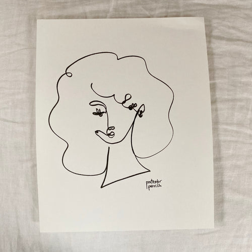 Original Single Line Contour Drawing - 800