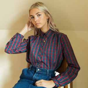 Tandem Vintage Eighties Grid Button Down Shirt