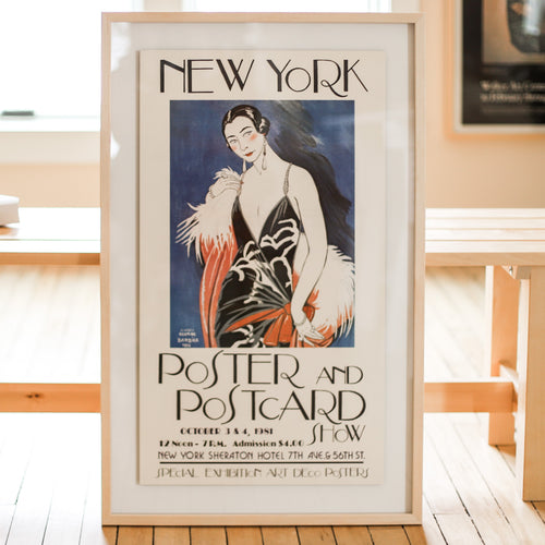 Vintage Art Exhibition Poster for the New York Poster and Postcard Show 1981