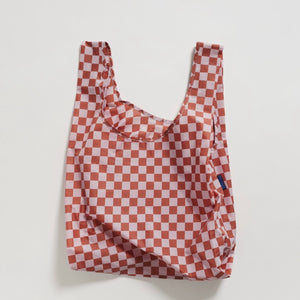 Reusable Tote in Rose Checkerboard