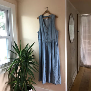 Tandem Vintage Chambray Cotton Sleeveless Dress