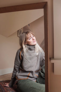 Matilda Wool Pullover Sweater in Sand