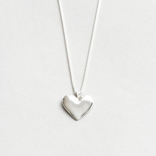 Amourette Heart Necklace in Sterling Silver