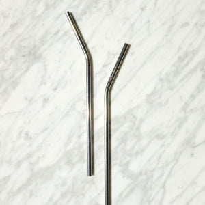 Single Curved Metal Straw