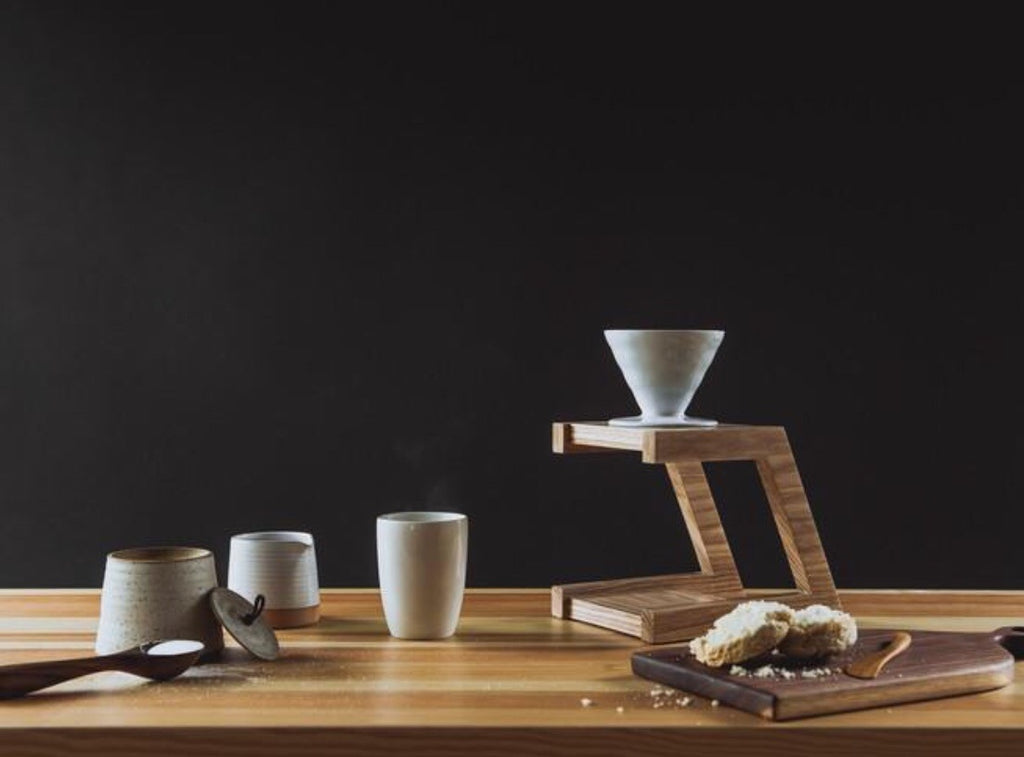 Pour-Over Stand | Drip Coffee Wooden Stand | Minneapolis Artists | Minnesota Made | Golden Rule Gallery | Excelsior, MN