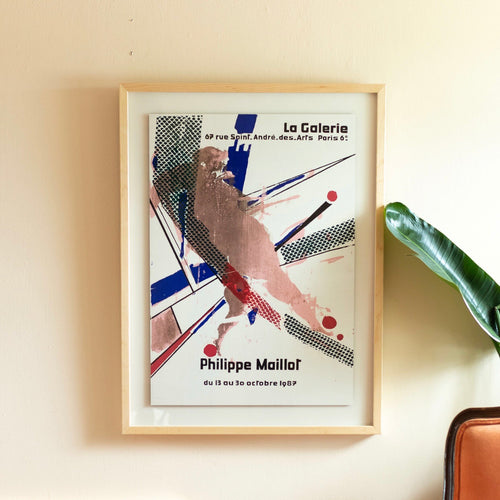 Philippe Maillot La Galerie Vintage 1987 French Art Exhibition Poster