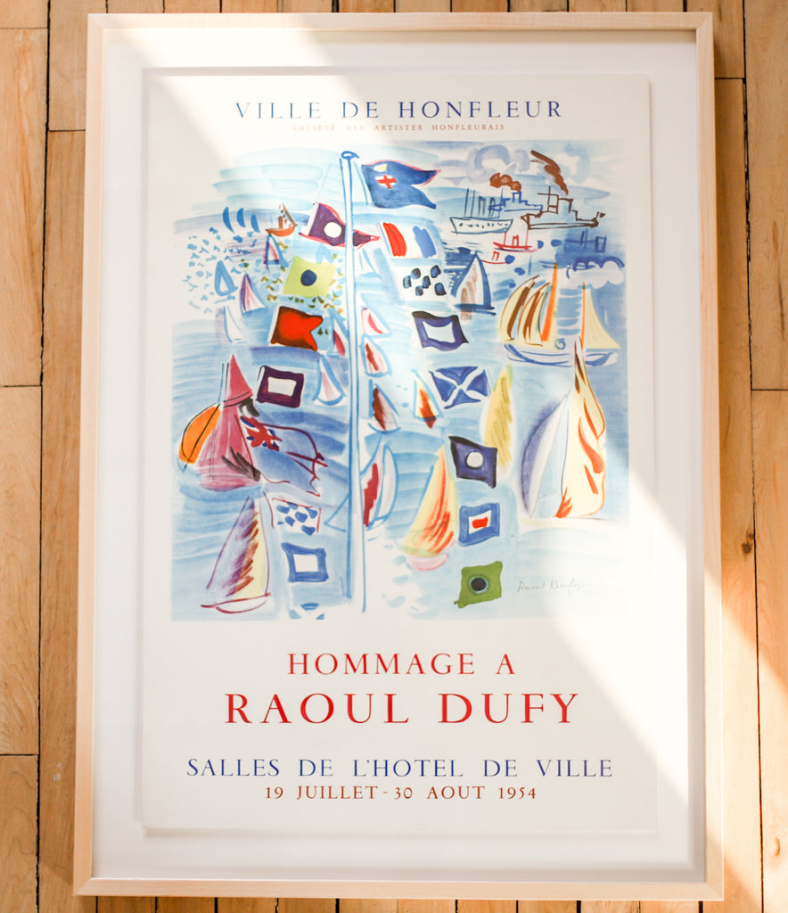 Raoul Dufy Vintage 1954 French Art Exhibition Poster