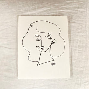 Original Single Line Contour Drawing - 807