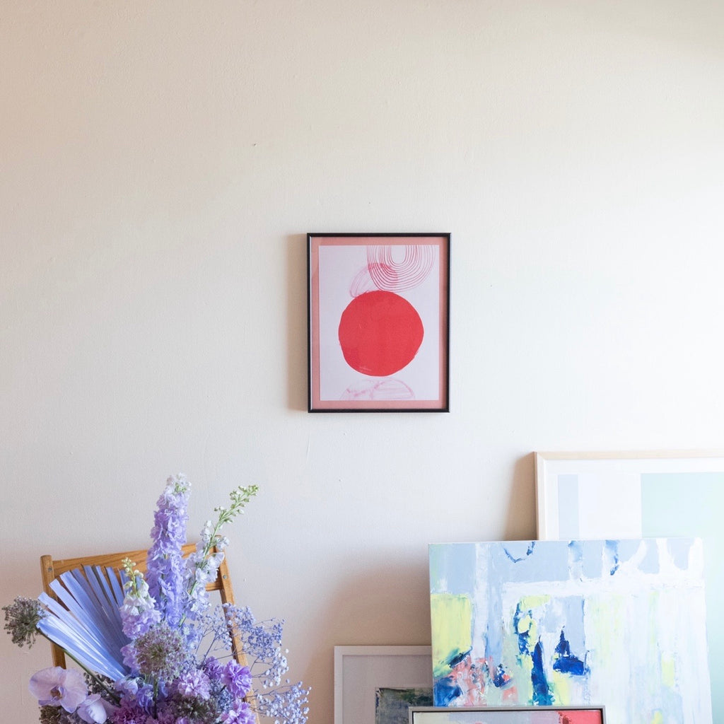 Framed Abstract Ashley Mary Art Print | Abstract Art Print | Pink Abstract Print | Golden Rule Gallery | MN Artists | Minnesota Artists | Minneapolis Based Artists | Excelsior, MN