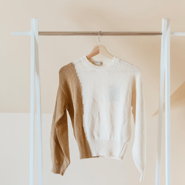 Paloma Wool Camu Sweater in Cream on Hanger