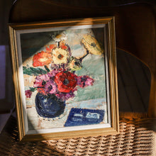 Load image into Gallery viewer, Vintage French Original Floral Still Life Oil Painting
