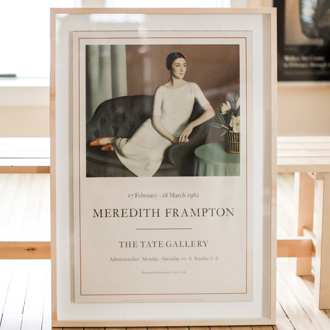 Meredith Frampton Vintage 1982 Tate Gallery Art Exhibition Poster