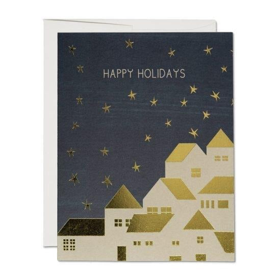 Happy Holidays Card | Red Cap Cards | Golden Rule Gallery | Holiday Cards | Excelsior, MN
