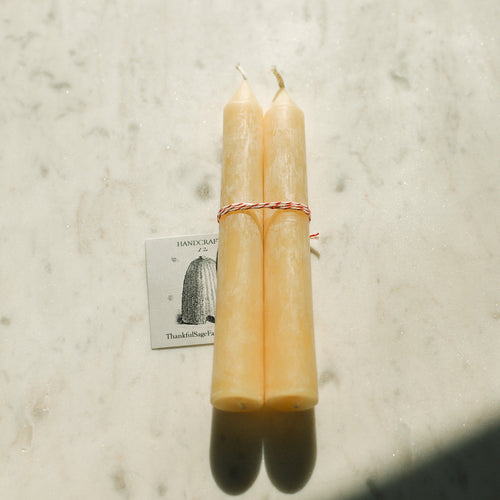 Homesteader Beeswax Candles - Petite Duet