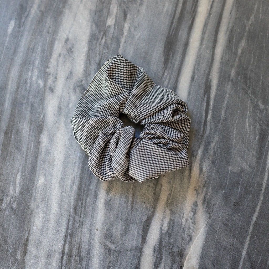 Black Houndstooth Scrunchie | Patterned Scrunchie | Britts. Bows | Golden Rule Gallery | Excelsior, MN