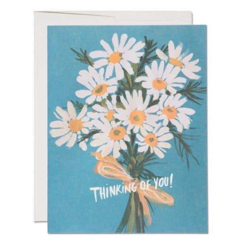 Vintage Daisy Greeting Card | Golden Rule Gallery | Red Cap Cards | Bouquet of Flowers Card | Daisy Greeting Card | Golden Rule Gallery | Excelsior, MN