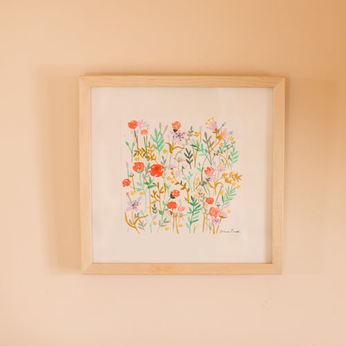 "Wonders Never Cease Original ""A Garden Growing"" Watercolor Art by Jess Bruggink"
