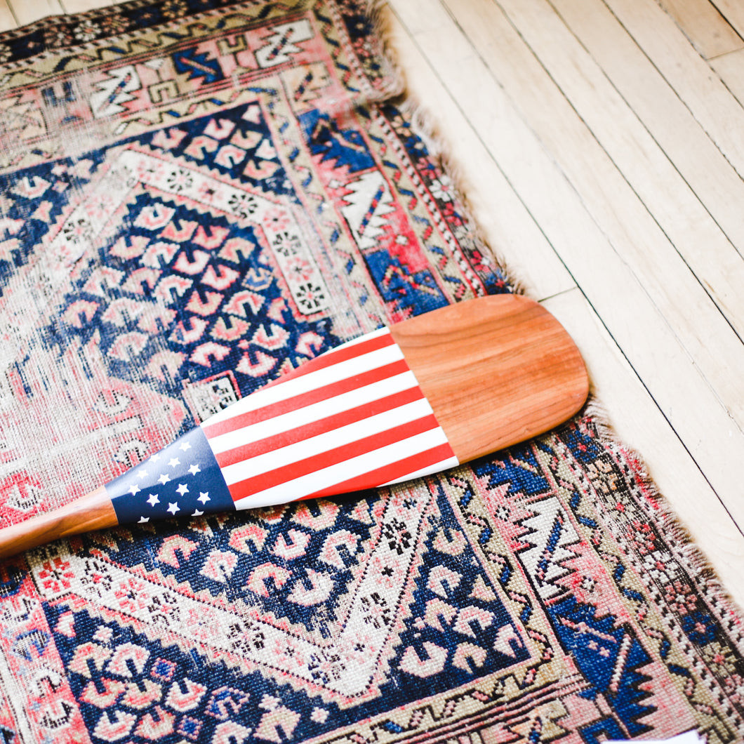 American Flag Painted Canoe Paddle